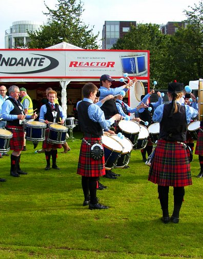 Moneygore Pipe Band practising at the Worlds 2012