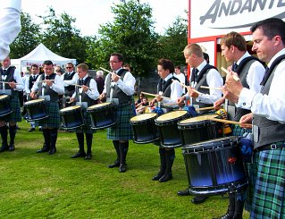 Inveraray & District practising at the Andante stand Worlds 2012