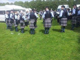 2622 Highland Squadron Pipes & Drums from Lossiemouth, Scotland for this great photo of the band practicing.