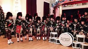 Accrington Pipe Band from Lancashire, England.