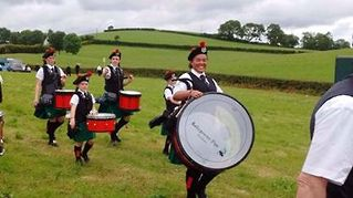 Another great photo from Ballygowan Pipe Band from Northern Ireland.