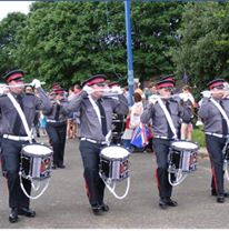 Ballymena Corps of Drums from Northern Ireland for this brilliant photo of their band parading playing Andante's Advance Miliarty Series DS.