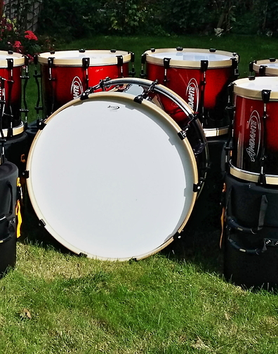 Bideford Youth Pipe Band just recieved their new set of Andante Pro Bass & Pro Tenors Drums.