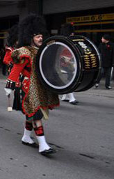 The Black Watch Pipes & Drums from Quebec Montreal Canada for this great picture of their Bass Drummer