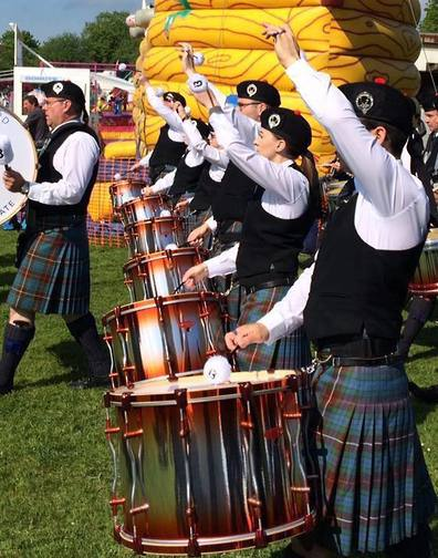 Boghall & Bathgate Caledonia PB from Scotland of the drummers.
