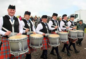Bothwell Castle Pipe Band from South Lanarkshire, Scotland.