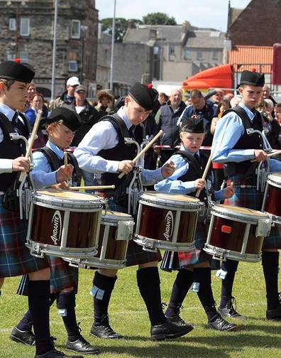 Burntisland & District PB from Scotland for this great picture of their young drummers at the first home competition!
