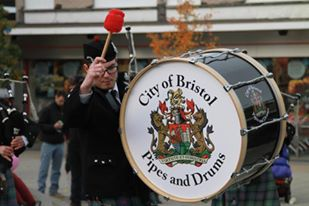 City of Bristol Pipes & Drums from Bristol, England.