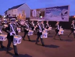 Clogher Flute Band from Donaghcloney, Northern Ireland for this great photo of the drummers on parade.