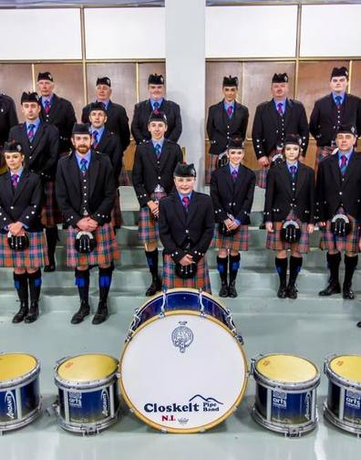 Closkelt Pipe Band from Northern Ireland for this great picture of the band during their visit to Virginia USA,.