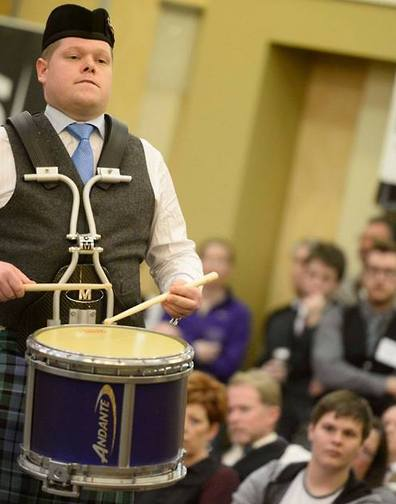 Derek Cooper was the winner of the 2016 North American Gold Medal Drumming Championship.