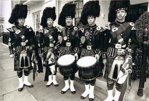 Harrods Pipe Band from England.