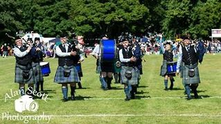 Hawick Pipe Band from Hawick, Scotland.