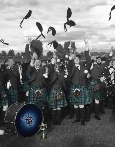 Inveraray & District Pipe Band Grade 1, crowned British Champions 2016.