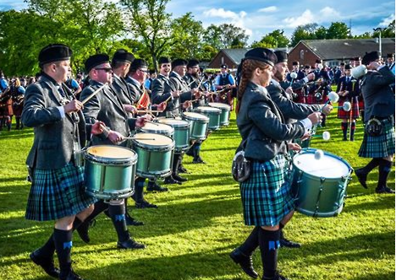Inverary & District Pipe Band at the British Champions.