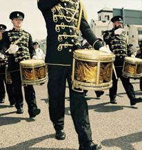 Kilcluney Flute Band from Northern Ireland for this impressive picture of the guys on parade.