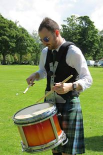 Great photo of Lead Drummer Calum Burns of Mackenzie Caledonian PB from Dundee, Scotland.