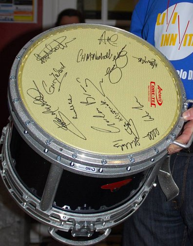 Andante Drum Signed by all competitors at the LIVI INNvitational Solos