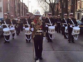Millar Memorial Flute Band from Belfast for this impressive picture of the guys parading.