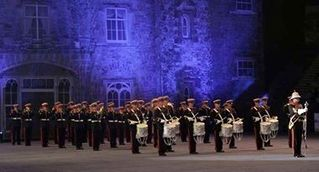 Pride of Ballinran from Kilkeel Northern Ireland for these very impressive photo's of the guys perfornancing at the Belfast Tattoo.