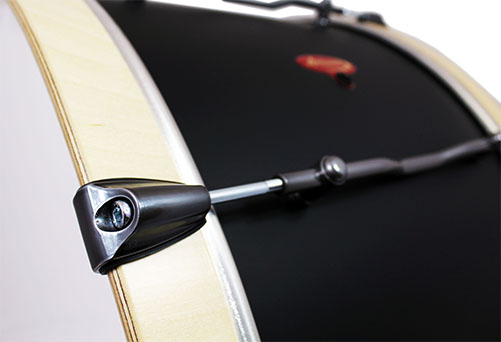 Close Side View of Pro Bass Drum