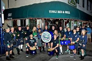San Diego Firefighters Emerald Society Pipe Band from San Diego USA.