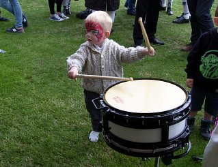 Cody a little drummer in the making