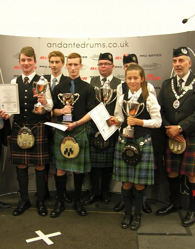 Winners of the 2015 World Solo Drumming Championships.