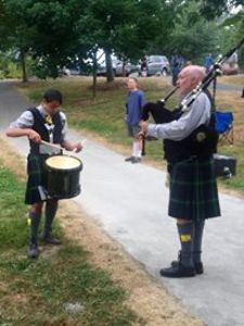 The Clan Gordon Pipe Band from Tacoma WA, USA.