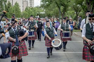 The Regina Police Service P&D from Regina Saskatchewan Canada, for this great picture of the band parading.