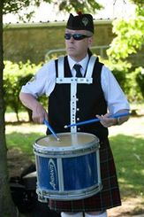 Trevor Clydesdale a drummer in McDonald Memorial Pipe Band.