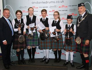 Winners of the 2015 International Juvenile Solo Tenor Drumming Championships.